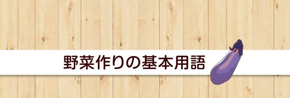 野菜づくりの基本用語(あ~こ)